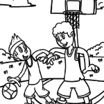 Coloring page Basketball | Sports
