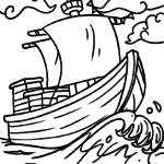Coloring page boat | vehicles