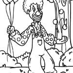 Coloring page clown | people