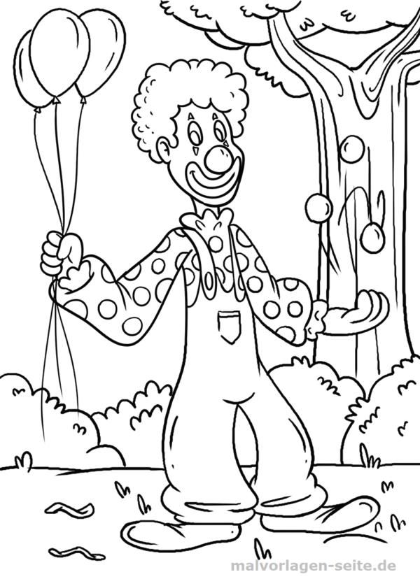 Página para colorear payaso | Páginas para colorear gratis para ...