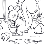 Coloring page squirrel | animals