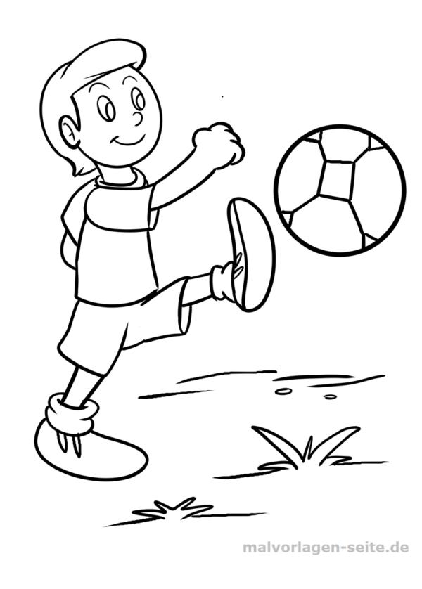 Malvorlage / Ausmalbild Fußball