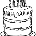 Coloring page birthday cake | public holidays