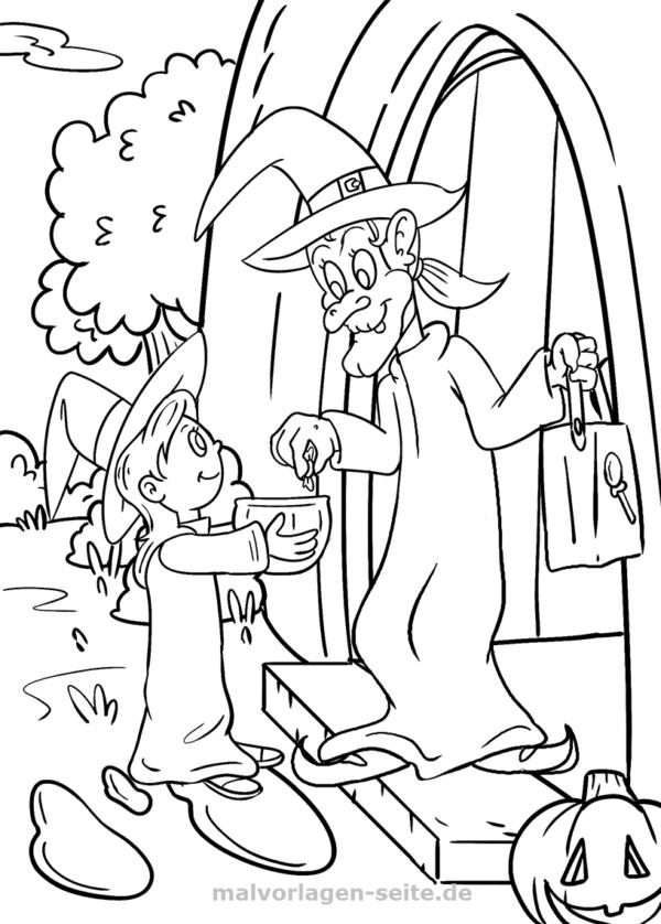 Dibujo para colorear Halloween | Páginas para colorear gratis para ...