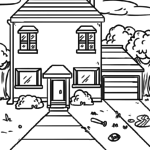 Coloring page house | building