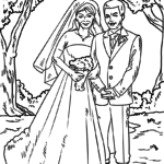 Coloring page wedding | public holidays