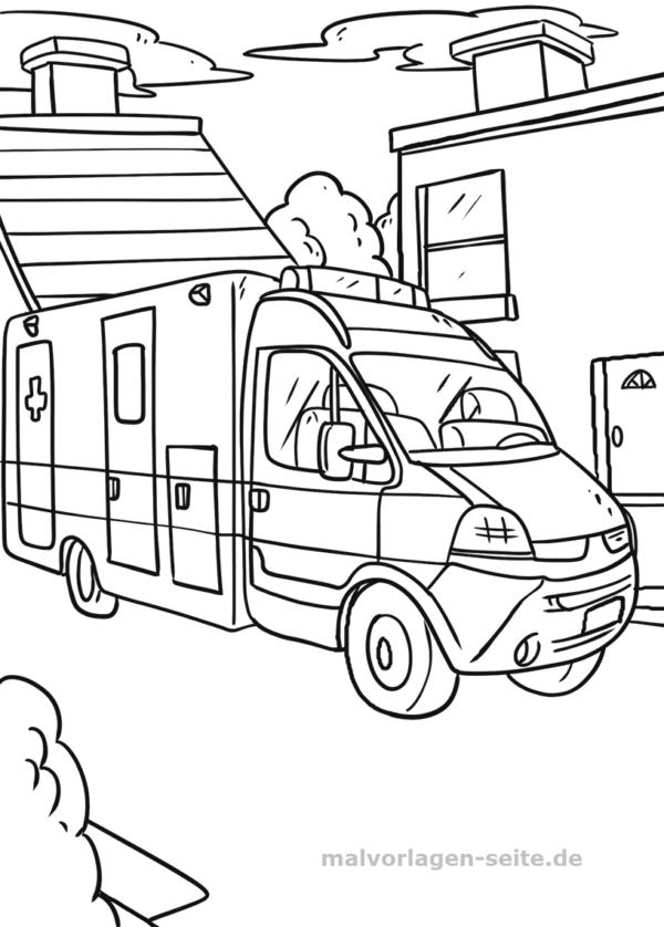 Coloriage Ambulance Vehicules Coloriages Gratuits