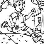 Coloring page Running | Athletics Sports