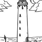 Coloring page lighthouse | building
