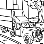 Coloring page truck | vehicles