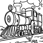 Coloring page locomotive | vehicles