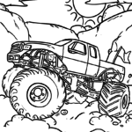 Coloring page Monster Truck | vehicles