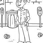 Coloring page Policewoman | police