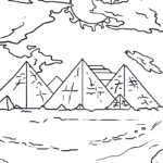 Coloring page pyramids