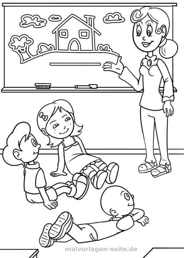 Coloring page school