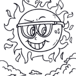 Coloring page sun | space