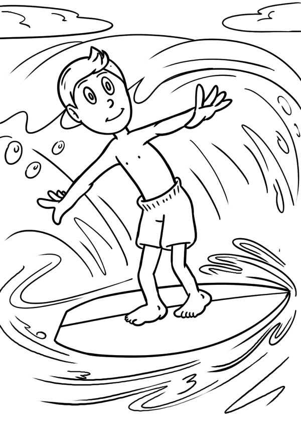 Pagina da colorà Surf