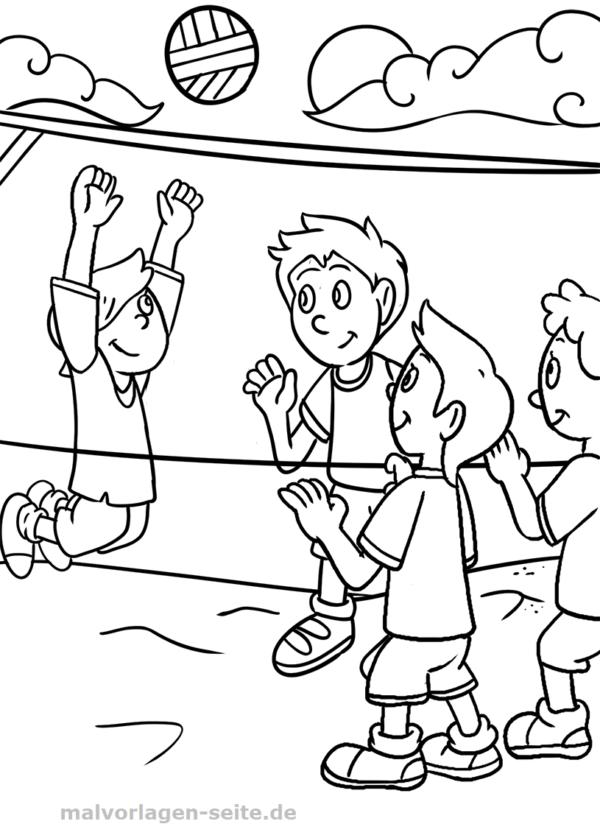 Malvorlage Volleyball