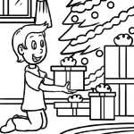 Coloring page Christmas gifts