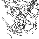 Coloring page winter seasons