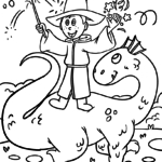 Coloring page magician | mythical creatures