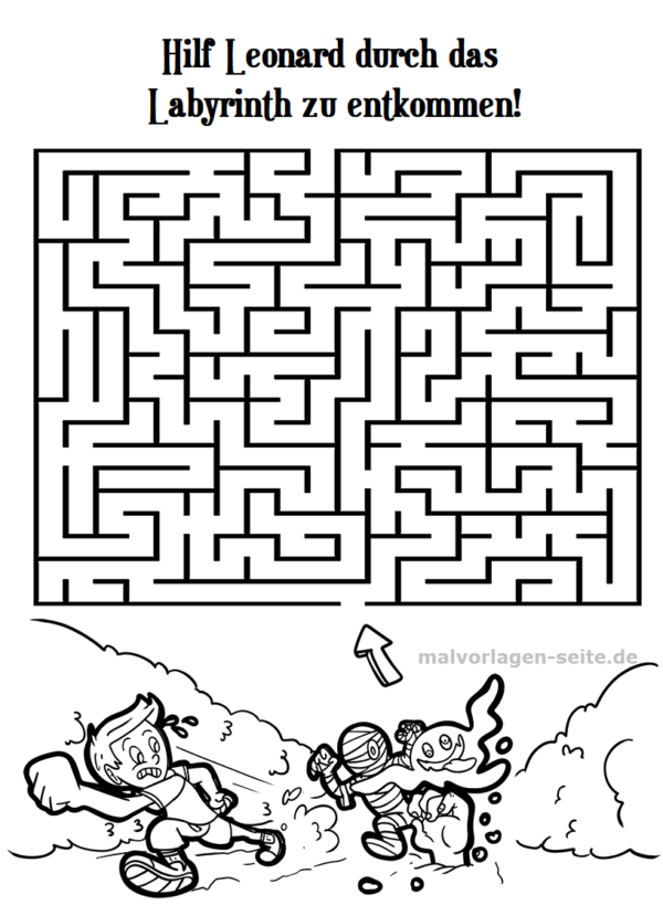 Labyrinth / maze for children - on the run