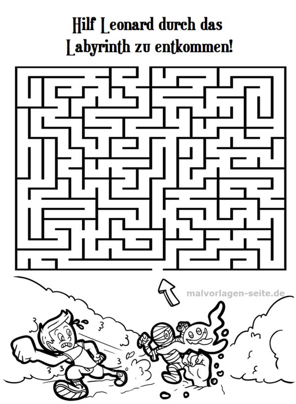 Labyrinth / Irrgarten für Kinder - Auf der Flucht