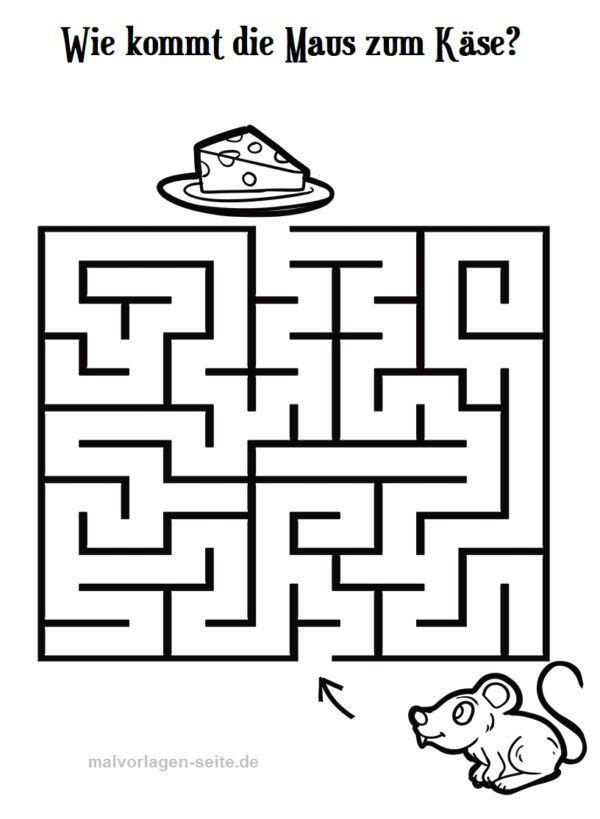 Labyrinth / maze mouse and cheese