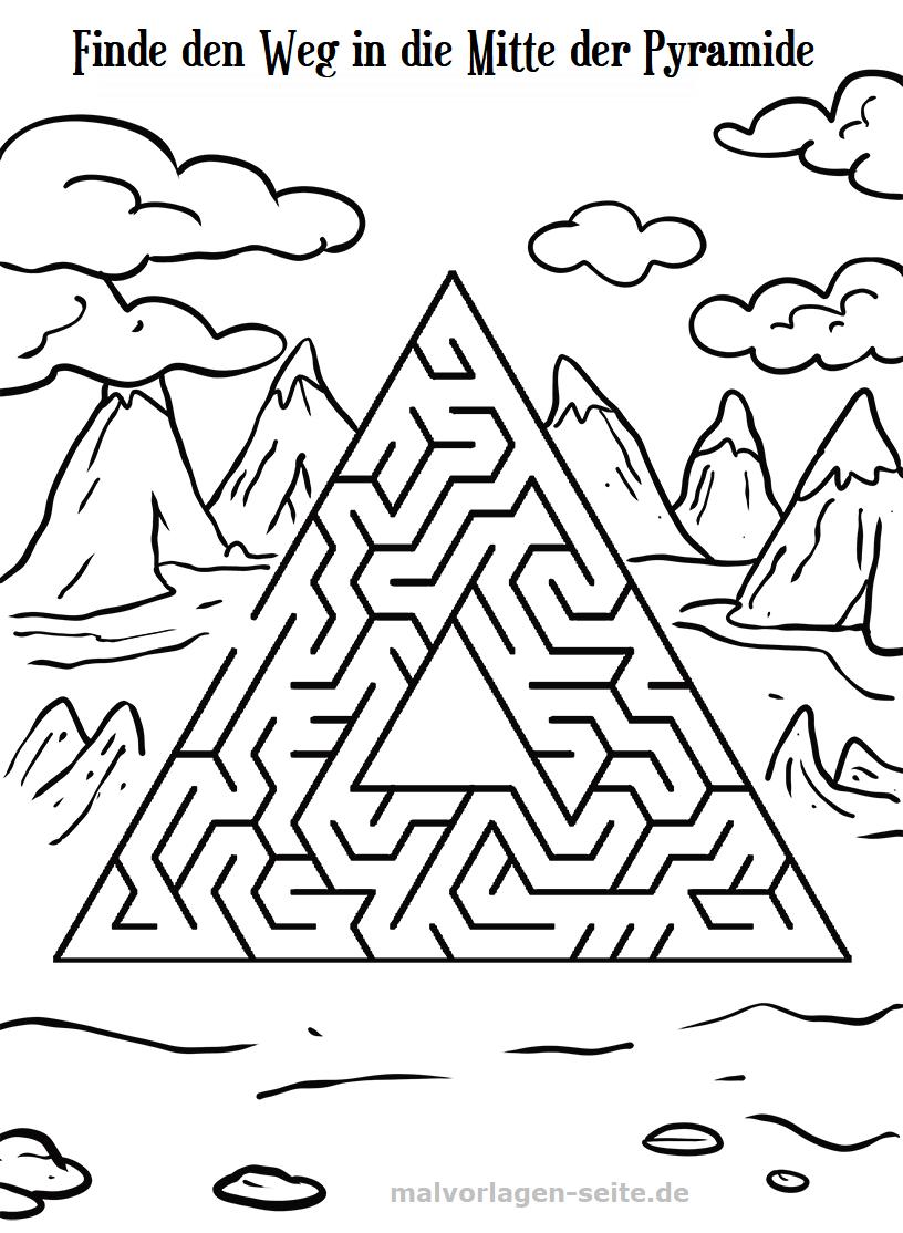 kinder malvorlagen pyramide  coloring and malvorlagan