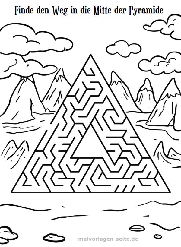 Irrgarten Labyrinth für Kinder | Gratis Malvorlagen zum Download