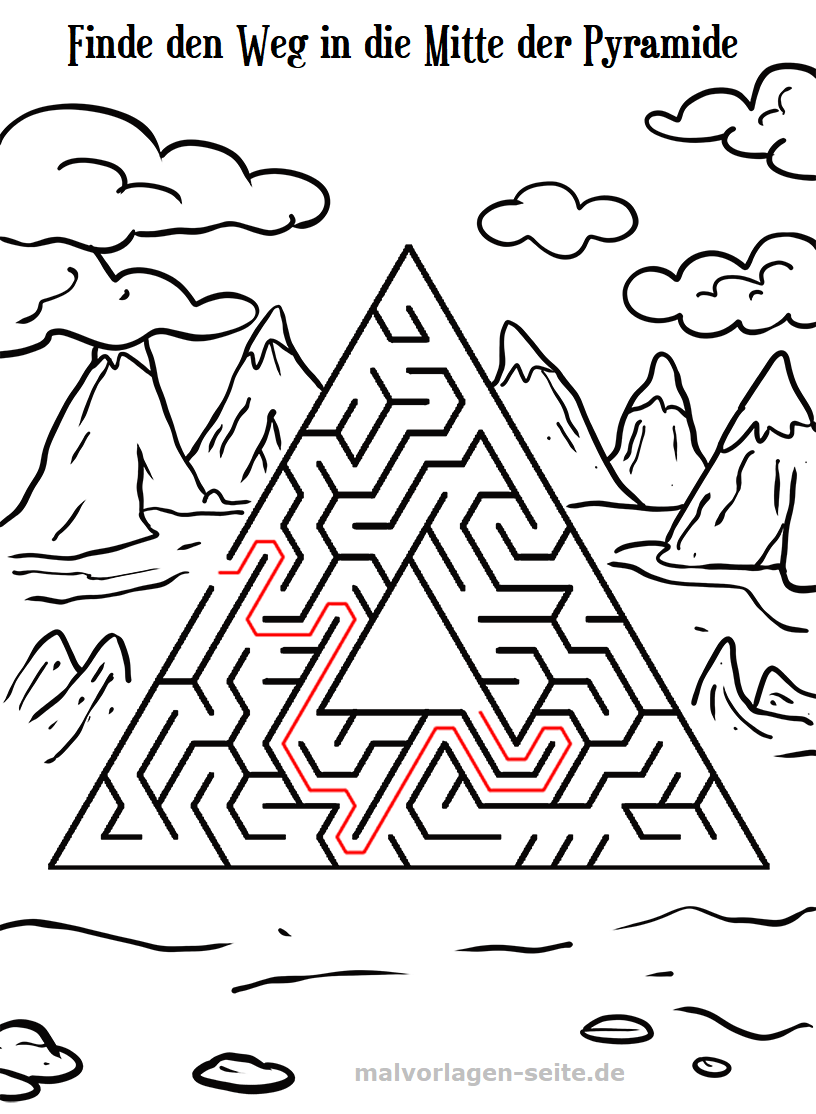 Irrgarten Labyrinth für Kinder   Gratis Malvorlagen zum Download