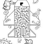 Maze labyrinth for children