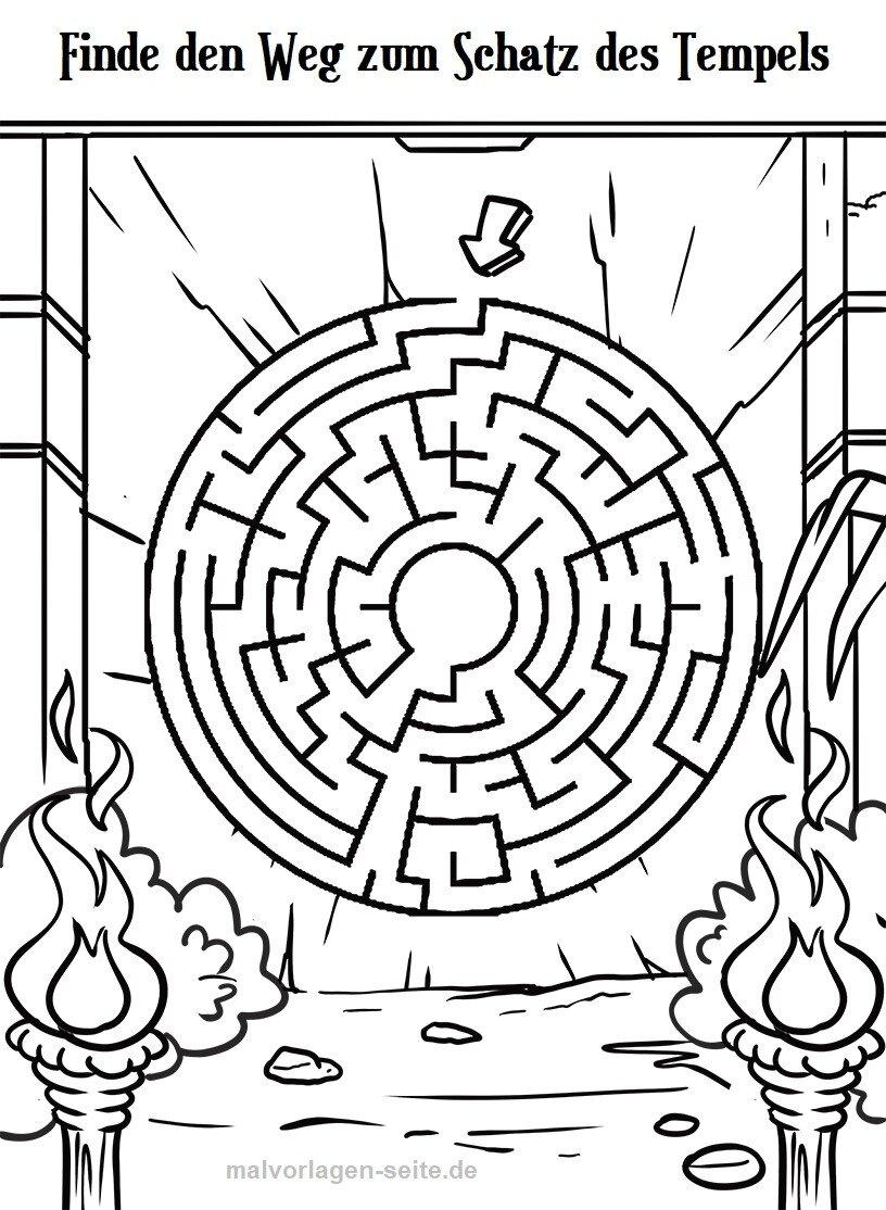 labyrinth ratsel fur kinder zum ausdrucken