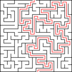 Labyrinths / mazes for children quadrangular