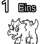 Numbers and letters coloring page