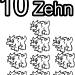 Coloring page numbers digits - 10