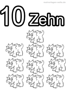 Coloring Pages Numbers / Numbers 1-10