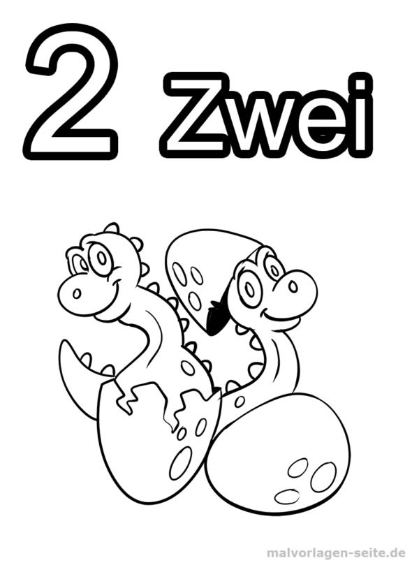 Dígitos de números de página para colorear: 2 | Páginas para ...