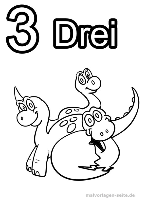 Coloring page numbers digits 1 to 10
