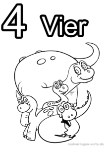 Coloring Pages Numbers Numbers 1-10