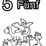 Coloring page numbers digits - 5
