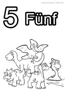 Coloring page numbers / numbers 1 to 10
