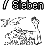 Coloring Pages Digits Numbers - 7
