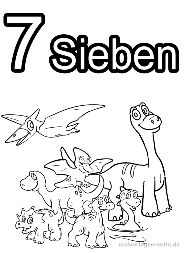 Coloring Pages Numbers / Numbers 1 to 10