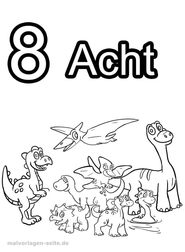 Dígitos De Números De Página Para Colorear 8 Páginas Para