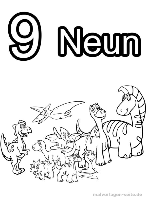Página para colorir Números 1-10