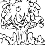 Coloring page apple tree | plants