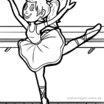 Coloring page ballet dancer for children