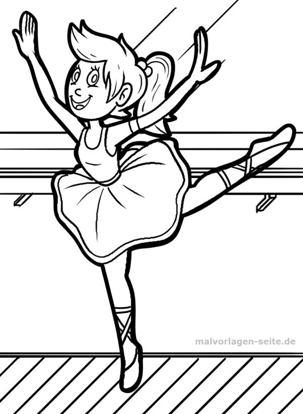 Malvorlage / Ausmalbild Ballett