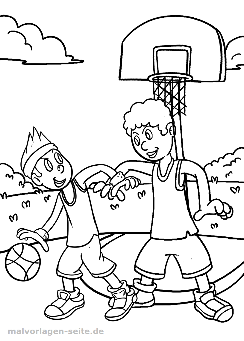 Malvorlage Basketball | Gratis Malvorlagen zum Download